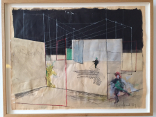 2016 Collage with watercolor and pencil, 1969