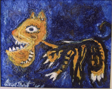 "2020 Oil on linen, titled ""Kat"", signed, 1949"