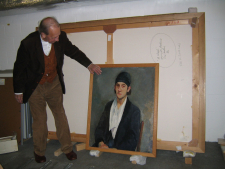 Constant with his Self portrait, 2004