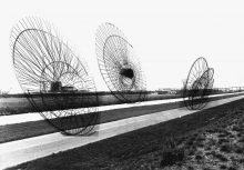 Nébuloses Mécaniques by Constant Nieuwenhuys projected in a photo, 1968