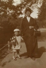 Constant with his grandmother, ca 1923