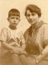 Constant with his aunt, ca 1925