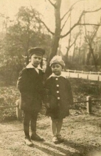 Constant and his brother Jan Nieuwenhuijs, ca 1926