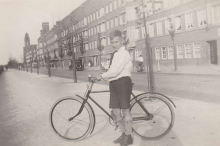 Constant and his brother Jan in Amsterdam on their bicycle's.