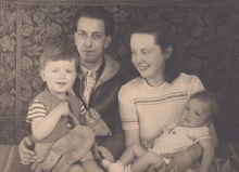Victor, Constant, Matie and Martha, ca 1946 [I]