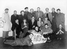 Group photo for the Høst exhibition, 1948