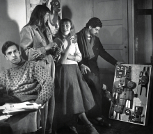 Constant, Else Alfelt, Nelly Riemens and Karel Appel, 1949