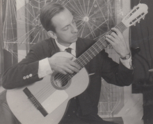 Constant playing guitar, ca 1955