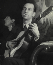 Constant playing guitar in Seville, 1955