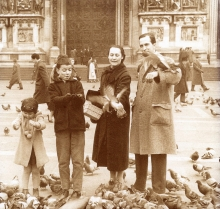 Constant with his family in Milan, 1956