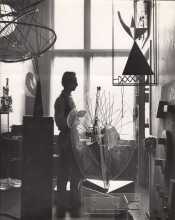 Constant in his studio at Henri Polaklaan