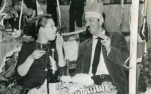 Constant and his wife on New Year's in Seville, ca 1964