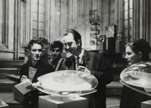 Nic Tummers, Constant and Nel at New Babylon exhibition in the Dominicanerkerk Maastricht, 1965