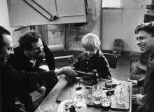 Constant, Johny, Jacob (Koen Wessing's son) and Koen Wessing, ca 1968