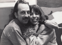 Constant and his oldest daughter, 1969