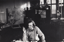 Constant in his studio, 1974