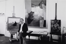 Constant amongst his paintings, 1982 ca   Photo Nico Koster