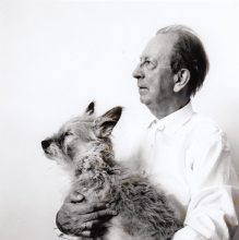 Constant and his dog, Tikus.