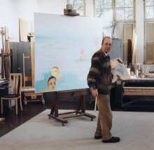 Constant Nieuwenhuys-Constant working on Les baigneurs, 2001
