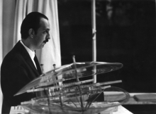 Constant Nieuwenhuys at the Vernissage Krefeld, 1964