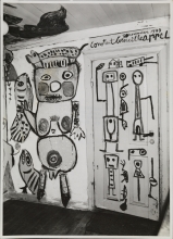 Mural by Karel Appel in the home of Erik Nijholm in Funder, Jutland, Danmark, 1949