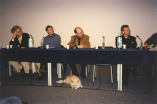 Constant at the symposium at Drawing Center NY, 1999