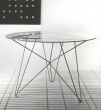 IJhorst table and Variations Rythmiques by Constant Nieuwenhuy, 1954