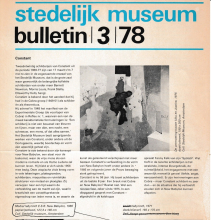 Stedelijk Museum bulletin, March 1978