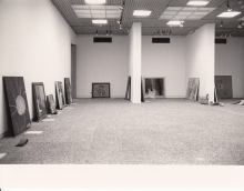 Exhibition under construction