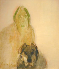 Constant Nieuwenhuys-Man with Dog, ca 1990