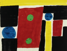 Constant Nieuwenhuys-Design for Curtain Cloth, 1956