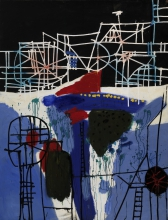 Constant Nieuwenhuys-Construction with ladders, 1961
