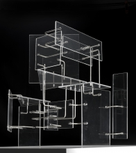 Constant Nieuwenhuys-Construction with Transparent Planes, 1954