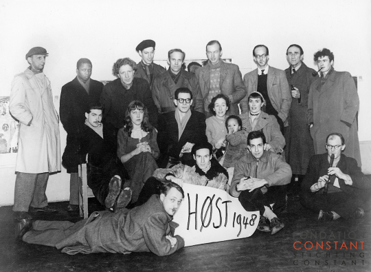 Group photo for the Høst exhibition November-December 1948 in Copenhagen