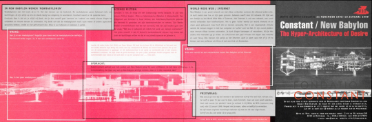 Constant-New Babylon exhibition leaflet-cover