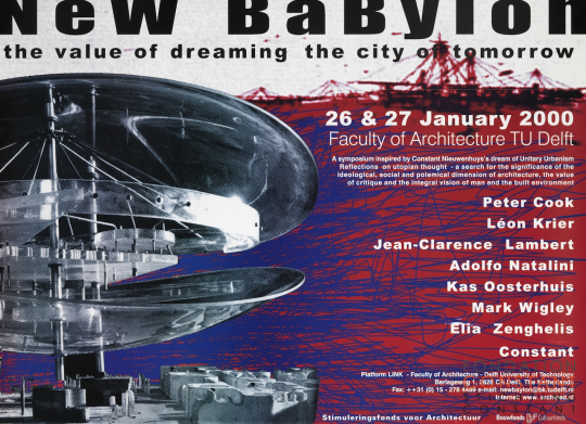 Constant Nieuwenhuys-The value of dreaming the city of tomorrow, 2000