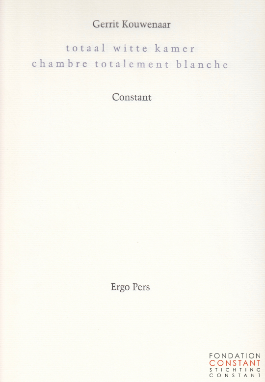 totaal witte kamer | chambre totalement blanche, 2003