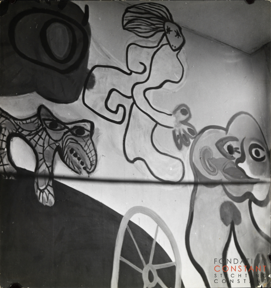 Mural by Constant and Karel Appel in Constant's home, 1949 II