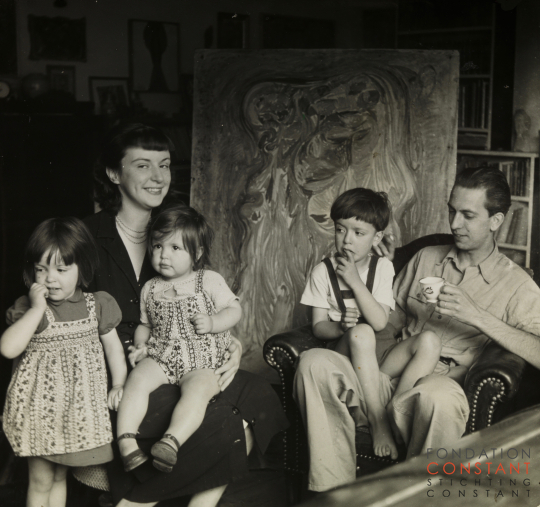 Constant and his family, 1949