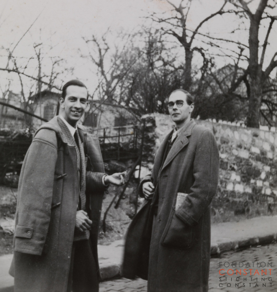 Constant Nieuwenhuys-Constant and Roger Hilton in Paris, 1953