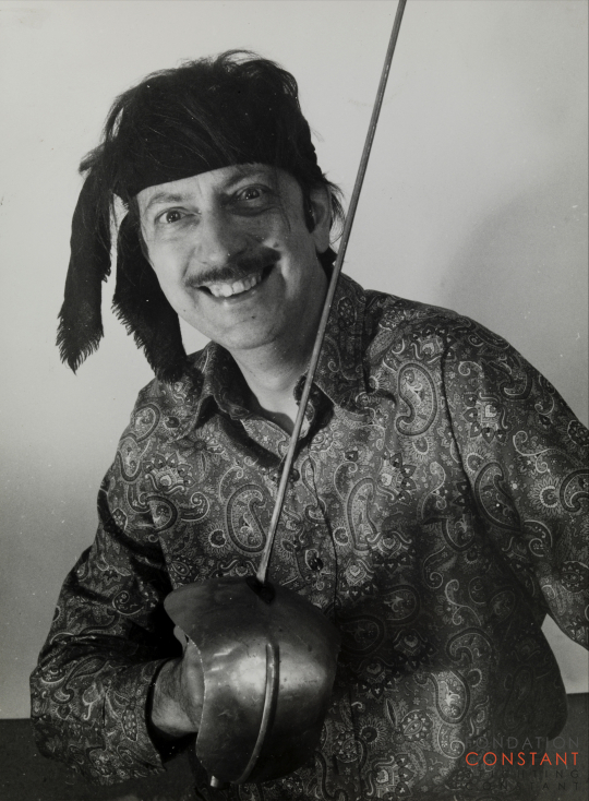 Constant dressed as a pirate with a rapier, 1969