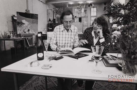 Constant and Fanny Kelk at Wittenburg, 1974-1 photo Victor Nieuwenhuijs