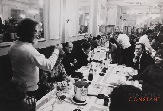Dinner after the David Roëll Award, 1974-photo Victor Nieuwenhuys