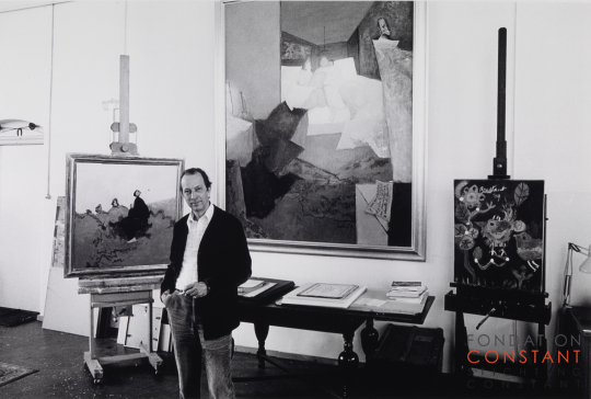 Constant amongst his paintings, 1982 ca | Photo Nico Koster