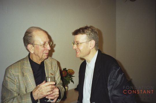 Constant Nieuwenhuys-with Mark Wigley at symposium the Activist Drawing, 1999
