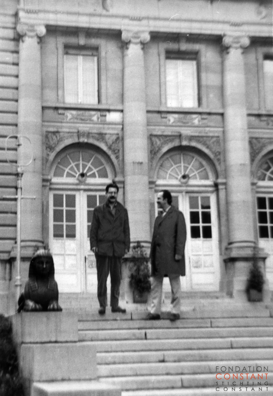 Constant Nieuwenhuys and Christian Dotremont at Museum Tervuren, 1963