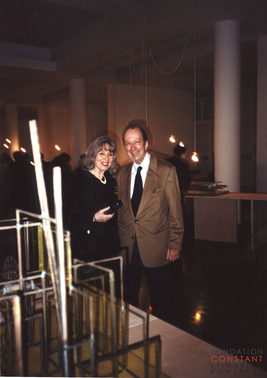 Constant Nieuwenhuys and Trudy at MACBA, 1996