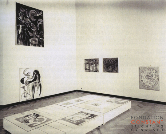 Cobra exhibition in 1949 with works by Constant Nieuwenhuys