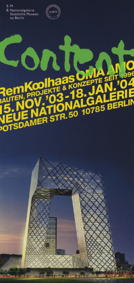 Flyer exhibition Content Rem Koolhaas, 2003
