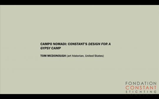 Campo nomadi: Constant's Design for a Gypsy Camp